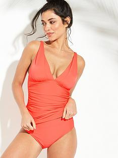 1067029442 V by Very Shapewear Essential Tankini Set - Bright Coral
