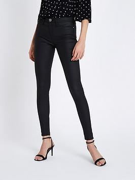 river-island-river-island-molly-coated-jeggings-regular-leg-black