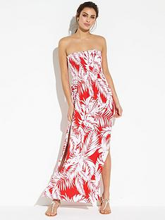 v-by-very-jersey-shirred-bandeau-beach-maxi-dress-print