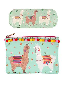 sass-belle-sass-and-belle-llama-glasses-case-and-pouch-set