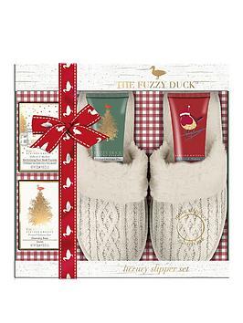 baylis-harding-fuzzy-duck-for-her-slipper-gift-set
