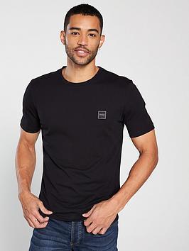 Boss Casual Crew Neck T-Shirt - Black, Black, Size S, Men