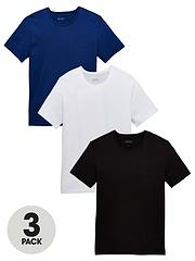 bfff9dc724e BOSS Core 3 Pack T-Shirt - White Blue Black