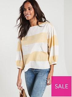 boss-ergila-stripe-blouse-yellow-stripe
