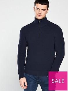 boss-zip-knit-jumper-navy