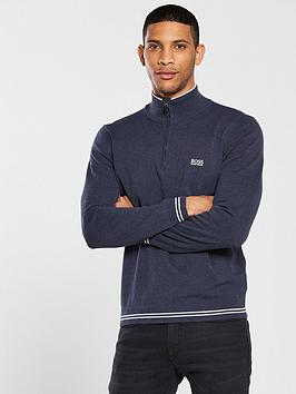 boss-half-zip-jumper-navy-melange
