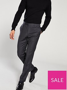hugo-micro-pattern-suit-trousers-charcoal