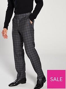 hugo-plain-check-suit-trousers