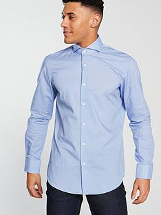 hugo-cotton-long-sleeve-shirt-bright-blue