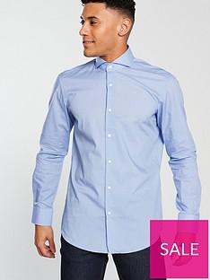 hugo-cotton-long-sleeve-shirt-bright-blue