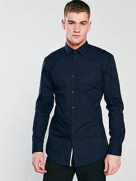 hugo-long-sleeve-shirt-navy