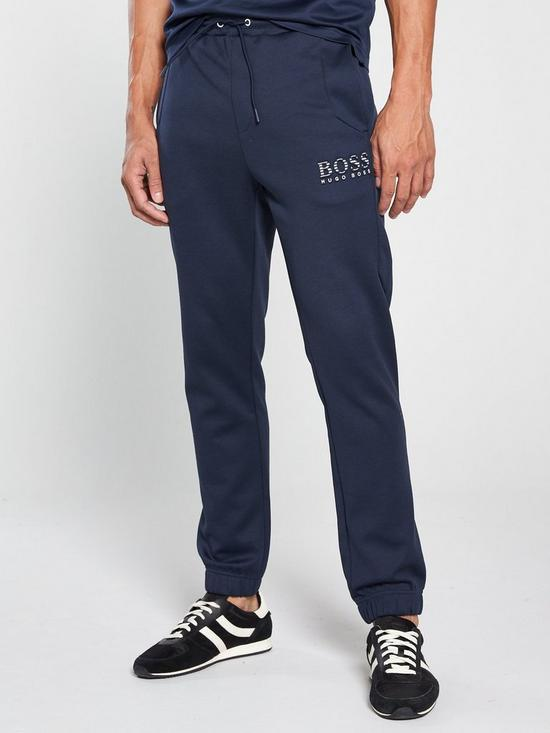 931d4248f BOSS by Hugo Boss Athleisure Logo Cuffed Sweats Pants - Navy | very ...
