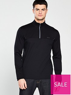 boss-half-zip-sweat-black