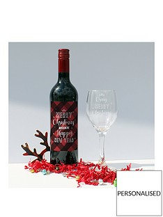 merry-christmas-bottle-of-wine-and-personalised-glass-in-a-hamper-gift-box-red-and-white-option