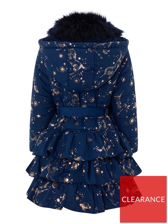 6b2fda65 Monsoon Girls Gemini Unicorn Padded Coat - Navy | very.co.uk