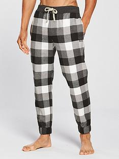boss-brushed-flannel-pyjama-bottoms-grey