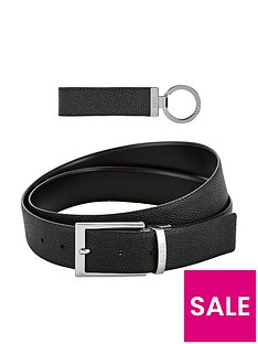 hugo-belt-and-keyring-set-black