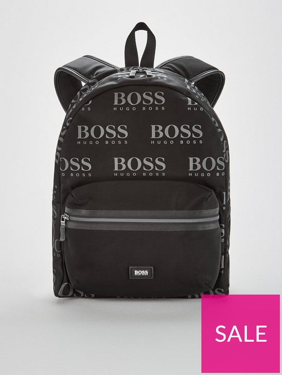 99a4f9962f6 BOSS Iconic All Over Logo Rucksack - Black | very.co.uk