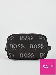 boss-iconic-all-over-logo-wash-bagnbsp--black