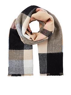river-island-neutral-check-scarf