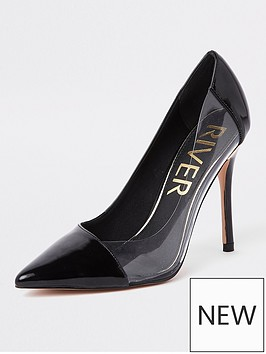 river-island-perspex-side-court-shoe-black