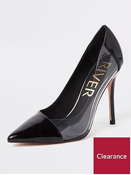 river-island-perspex-side-court-shoe-black