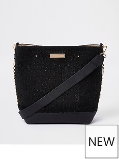 river-island-river-island-boucle-trim-bucket-black