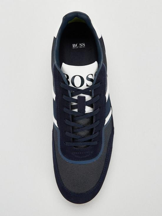 a8009a6447c by Hugo Boss Lighter Low Profile Flash Trainer - Dark Blue