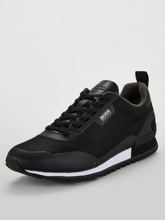 ea4200e88f17 BOSS by Hugo Boss Athleisure Zephir Trainer - Black | very.co.uk