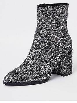 river-island-river-island-sparkle-ankle-boots-silver