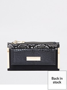 river-island-river-island-snake-print-foldout-purse-black