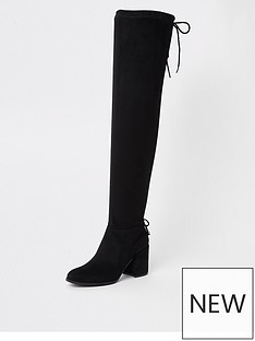 river-island-river-island-tie-back-knee-high-boot-black