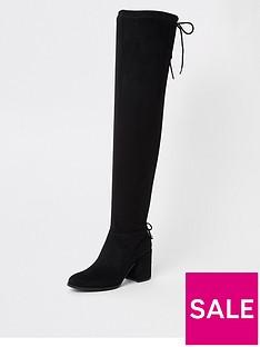 river-island-river-island-tie-back-knee-high-boot-black