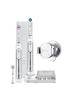 Oral-B Oral-B Genius 8900 Silver Electric Toothbrush Duo Pack