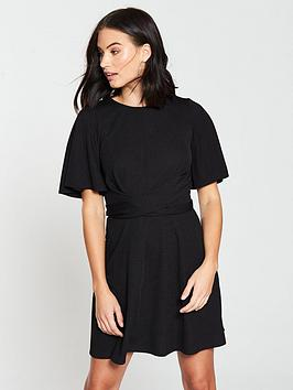 v-by-very-tie-waist-skater-dress-black