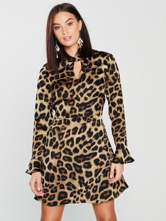 Leopard Choker Dress
