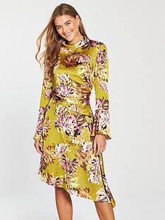 v-by-very-high-neck-satin-midi-dress-printed