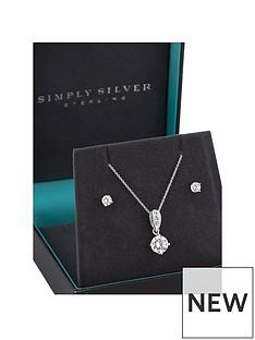 jon-richard-jon-richard-silver-amp-cubic-zirconia-solitaire-pendant-amp-earring-set