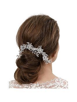 Jon Richard Jon Richard Floral Crystal Double Hair Comb