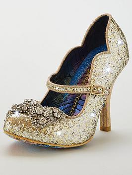 Irregular Choice Shimmer Heeled Shoe