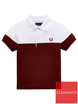fred-perry-boys-panelled-pique-polo-red