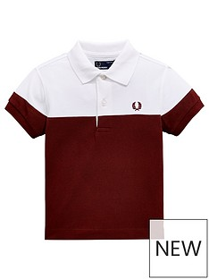 fred-perry-boys-panelled-pique-polo