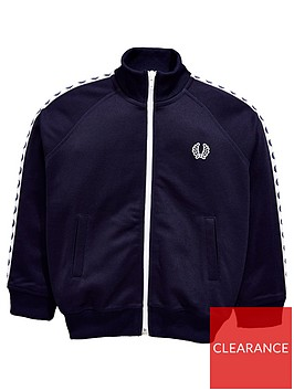 fred-perry-boys-taped-track-jacket-carbon-blue