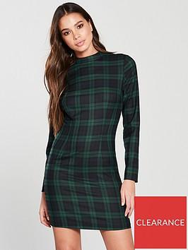 v-by-very-high-neck-dress-check