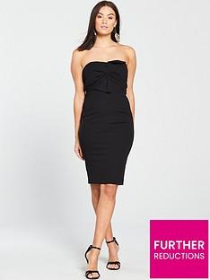 v-by-very-origami-bow-bodycon-dress-nbsp--black