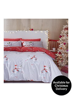 catherine-lansfield-christmas-unicorn-king-size-duvet-cover-set