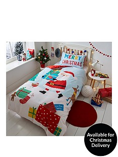 catherine-lansfield-love-from-santa-double-christmas-duvet-cover-set