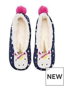 joules-girls-unicorn-slipper
