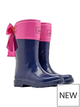 joules-girls-bow-wellies