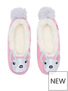 joules-girls-bulldog-slipper